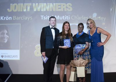 Finance Rising Star of the Year - (Joint Winners) Magdalena Krön, Braclays and Tsitsi Mutiti, Charles Stanley